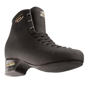 black ice skating skates